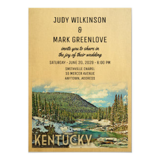 Kentucky som gifta sig inbjudanvintagenaturen 12,7 x 17,8 cm inbjudningskort