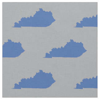 Kentucky statliga mönsterblått på grått tyg