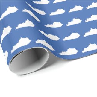 Kentucky statligt mönster på blått presentpapper