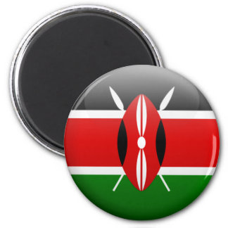 Kenya flagga magnet
