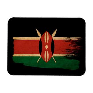 Kenya flagga rektangulär magnet