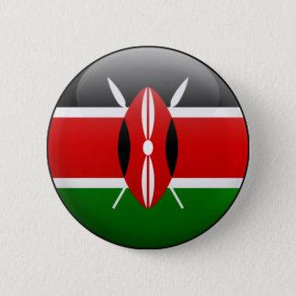 Kenya flagga standard knapp rund 5.7 cm