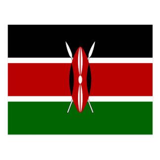 Kenya flagga vykort