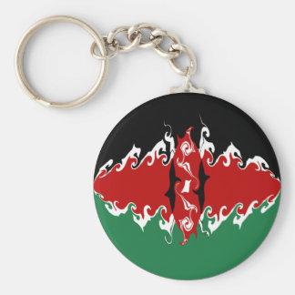 Kenya Gnarly flagga Nyckel Ringar
