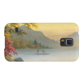 Kenyu T fartyg på sjön i höstjapanvattenfärg Galaxy S5 Fodral