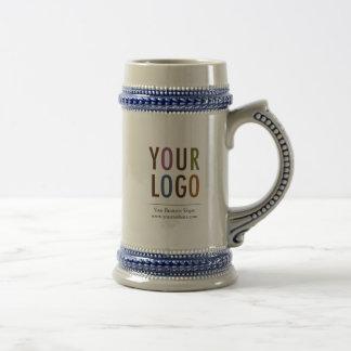 Keramisk beställnings- öl Stein med logotypen Sejdel