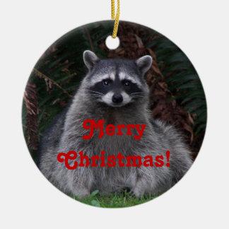 Keramisk prydnad för Raccoonfotojul Julgransprydnad Keramik