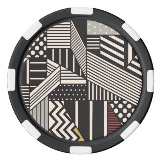 Keramiska pokerchiper för hackspett poker marker