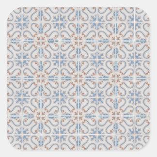 Keramiskt belägger med tegel fyrkantigt klistermärke