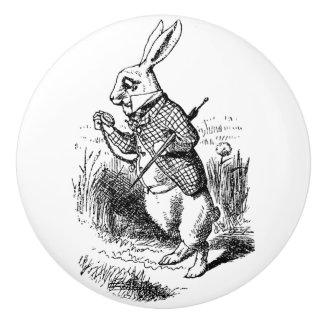 Keramiskt handtag - Alice i underlandtema, kanin