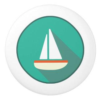 Keramiskt handtag, kust- uppehälledesign, segelbåt knopp