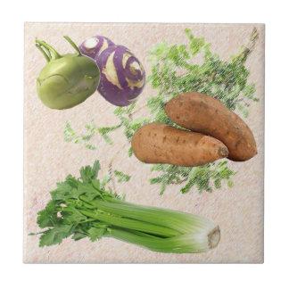 Keramiskt kök belägger med tegel kakelplatta
