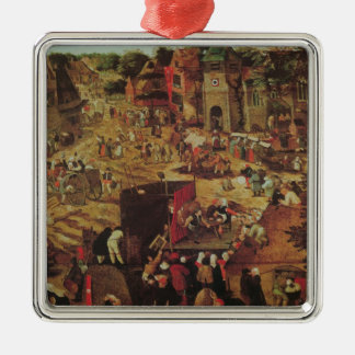 Kermesse med theatren och processionen julgransprydnad metall