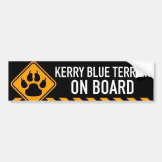 Kerry blåttTerrier ombord Bildekal