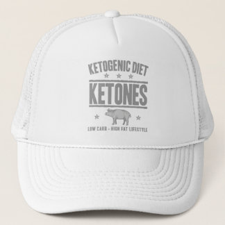 KETOGENIC BANTA: Ketones - klippt ut socker, grå Truckerkeps