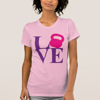 Kettlebell kärlek tshirts