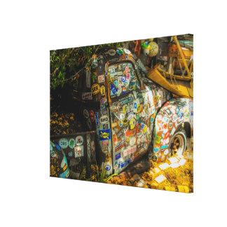 Key West är konst, gammal pickup lastbil Canvastryck