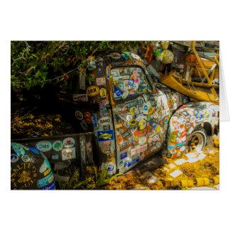 Key West är konst, gammal pickup lastbil Hälsningskort