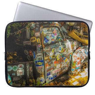 Key West är konst, gammal pickup lastbil Laptop Fodral