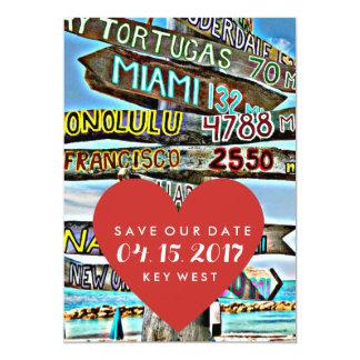 Key West destinationsbröllop spara datum 12,7 X 17,8 Cm Inbjudningskort