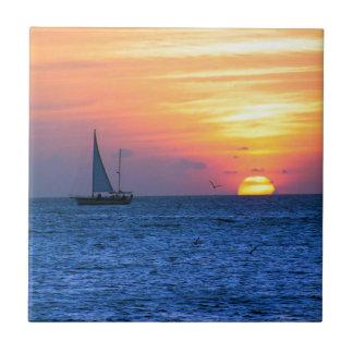 Key West solnedgång Kakelplatta