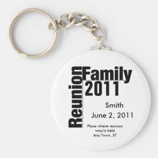 Keychain 2011 för familjmötesouviner rund nyckelring