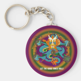 Keychain broder rund nyckelring