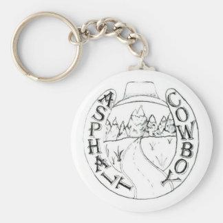 Keychain för asfaltCowboylogotyp Rund Nyckelring