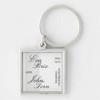 Keychain för bröllopfirandet nyckelringar
