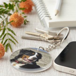 Keychain för foto för Bernese berghund härlig