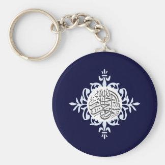 Keychain för islamBismillah gullig islamisk Rund Nyckelring
