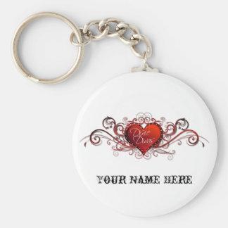 Keychain för logotyp för vit för Dixie Divas RC gr Rund Nyckelring