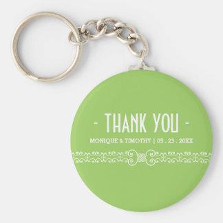 Keychain för tack för bröllop | för vår grön gåva rund nyckelring