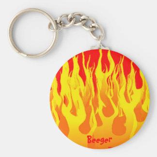 Keychain - kall gult flammar nyckelring