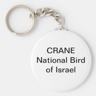 KEYCHAIN - KRAN: Medborgarefågel av Israel Rund Nyckelring