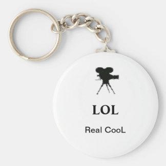 Keychain LOL verklig coola Rund Nyckelring