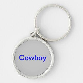 "keychain med ""den Cowboy"" logotypen Rund Silverfärgad Nyckelring"
