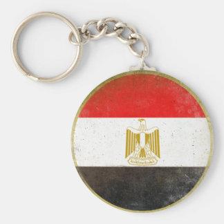 Keychain med kall flagga från egypten rund nyckelring