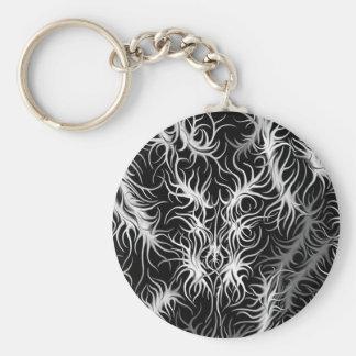 Keychain svart rund nyckelring