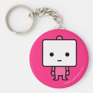 Keychain - Tofu - PinkBack Rund Nyckelring