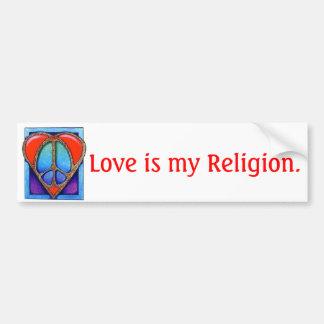 kgb073_450 kärlek är min Religion. Bildekal