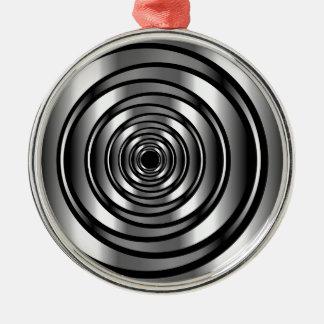 Kick - metallisk ringbakgrund för tech julgransprydnad metall