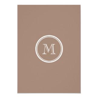 Kicken för personligbäverbrunt avslutar kulört 12,7 x 17,8 cm inbjudningskort