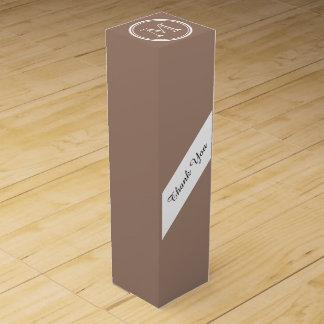 Kicken för personligbäverbrunt avslutar kulört förpackning för vinflaska