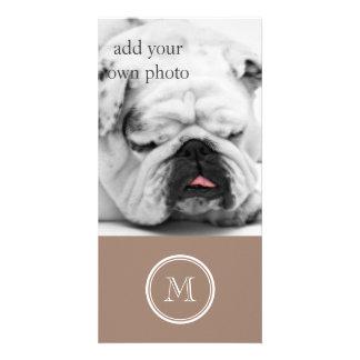 Kicken för personligbäverbrunt avslutar kulört anpassade foto kort