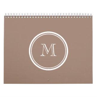 Kicken för personligbäverbrunt avslutar kulört kalender