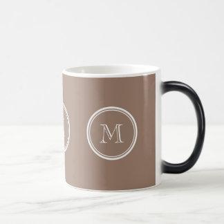 Kicken för personligbäverbrunt avslutar kulört kaffe muggar
