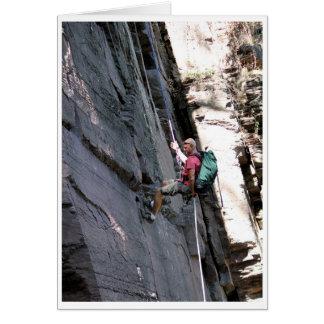 Kicken vaggar klättraren - förtroende hälsningskort