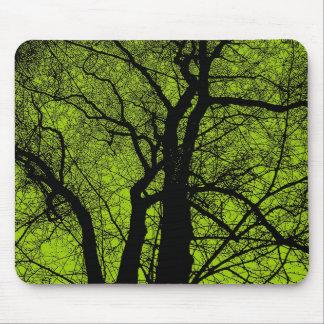 Kickkontrastträd - Martian grönt Musmatta