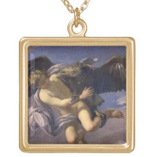 Kidnappningen av Ganymede, 1700 (olja på kanfas) Guldpläterat Halsband